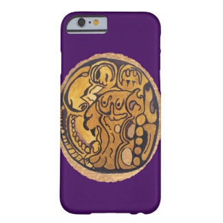 MAYAN JAGUAR COIN DARK PURPLE BARELY THERE iPhone 6 CASE
