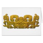 Mayan Jaguar - Gold Greeting Cards