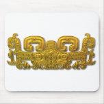 Mayan Jaguar - Gold Mousepads