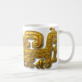 Mayan Jaguar-Gold Classic White Coffee Mug