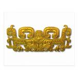 Mayan Jaguar - Gold Postcard