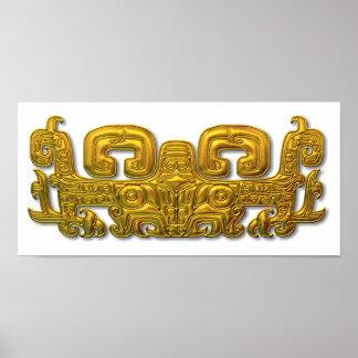 Mayan Jaguar - Gold Posters