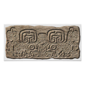 Mayan Jaguar-stone Poster