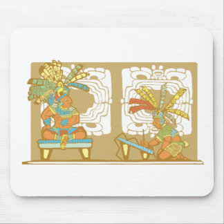 Mayan King and Scribe Mouse Pad