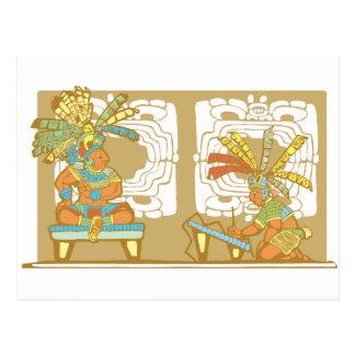 Mayan King and Scribe Postcard