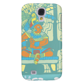 Mayan King and Warrior Samsung Galaxy S4 Case