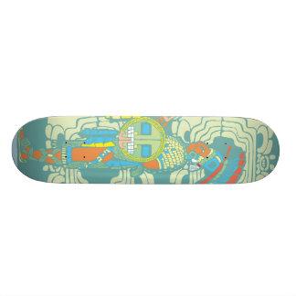 Mayan King and Warrior Skateboard