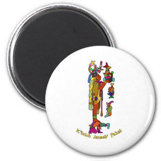 Mayan Lord Pacal 2 Inch Round Magnet