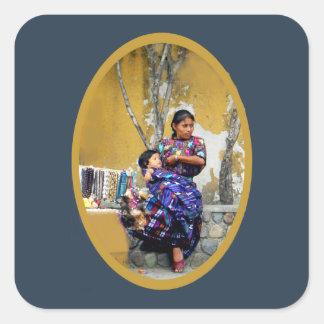 Mayan Madre Square Sticker