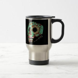 Mayan Mask-2012 15 Oz Stainless Steel Travel Mug