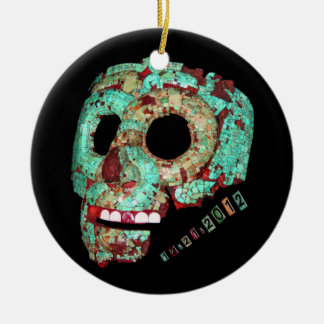 Mayan Mask-2012 Ceramic Ornament