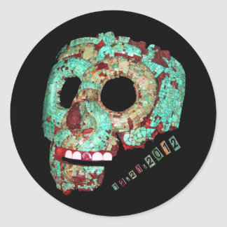 Mayan Mask-2012 Classic Round Sticker