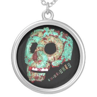 Mayan Mask-2012 Round Pendant Necklace