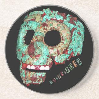 Mayan Mask-2012 Sandstone Coaster