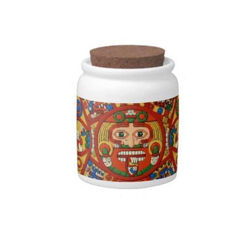 Mayan Maya Aztec Container for a Rainy Day Candy Dish