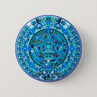 Mayan Maya Aztec Doomsday Symbol ~ Button