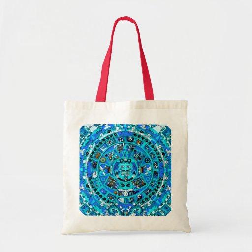 Mayan Maya Aztec Doomsday Symbol ~ Canvas Bags