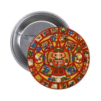 Mayan Maya Aztec Prophetic PinBack Button ~