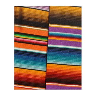 Mayan Mexican Colorful Blankets Acrylic Wall Art