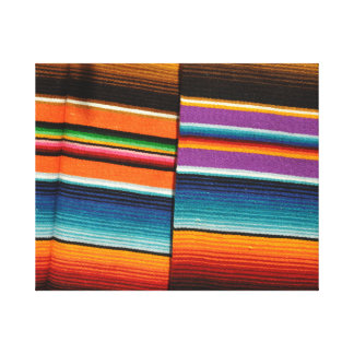 Mayan Mexican Colorful Blankets Canvas Print