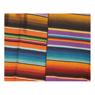 Mayan Mexican Colorful Blankets Panel Wall Art