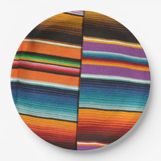 Mayan Mexican Colorful Blankets Paper Plate