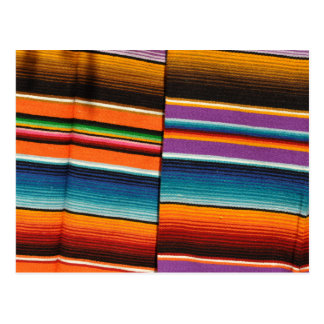 Mayan Mexican Colorful Blankets Postcard