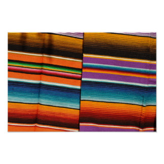 Mayan Mexican Colorful Blankets Poster