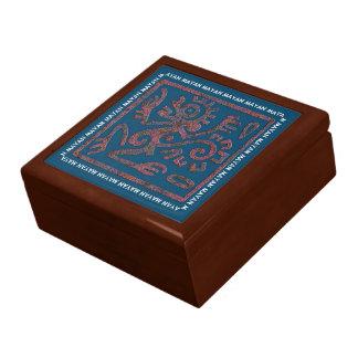 Mayan Monkey Symbol Keepsake Box