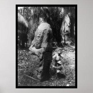 Mayan Monument Guatamala 1892 Poster