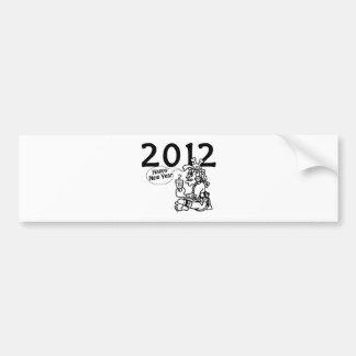 Mayan new years 2012 car bumper sticker