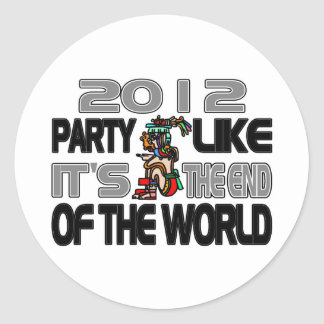Mayan New Years 2012 Classic Round Sticker