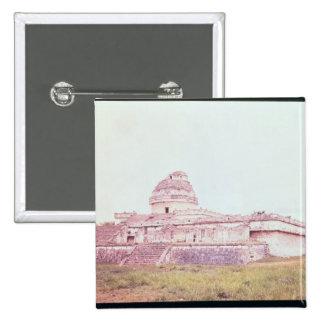 Mayan observatory, c.1050 pinback button