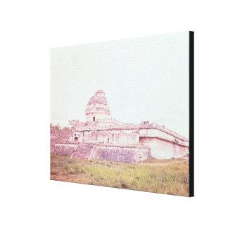 Mayan observatory, c.1050 canvas print