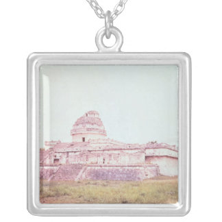Mayan observatory, c.1050 silver plated necklace
