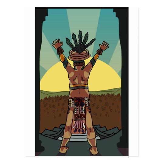 mayan priest postcard