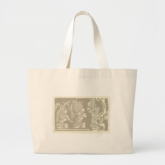Mayan priests and Vision Serpent Large Tote Bag