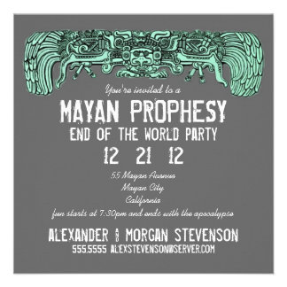 Mayan Prophesy End Of The World Party Invitation