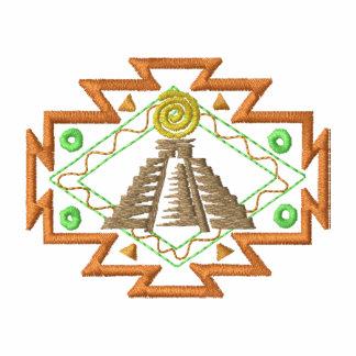 Mayan Pyramid Embroidered Hoodie