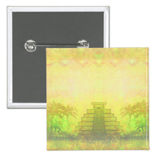 Mayan Pyramid, Mexico Badge Pinback Button