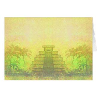 Mayan Pyramid, Mexico Card
