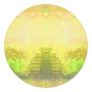 Mayan Pyramid, Mexico Invitation