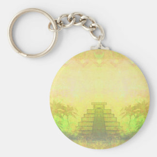 Mayan Pyramid, Mexico Key ring Keychain