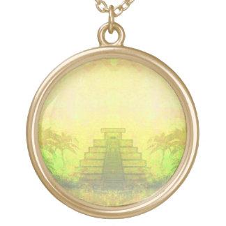 Mayan Pyramid, Mexico Necklace