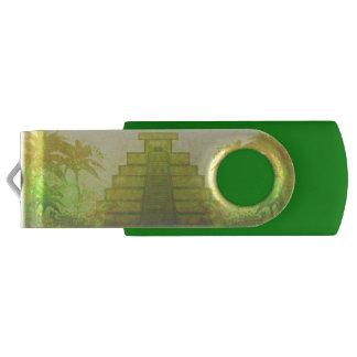 Mayan Pyramid, Mexico USB Flash Drive Swivel USB 2.0 Flash Drive