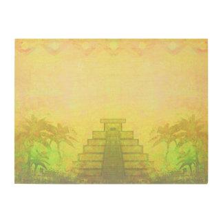 Mayan Pyramid, Mexico wood canvas