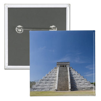 Mayan Pyramid, Morning in March 2 Inch Square Button