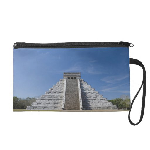 Mayan Pyramid, Morning in March Wristlet Clutches