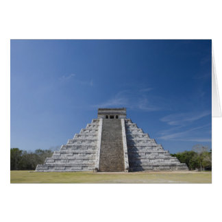 Mayan Pyramid Morning in March Greeting Cards