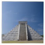Mayan Pyramid, Morning in March Large Square Tile